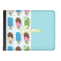 Popsicles and Polka Dots Genuine Leather Men's Bi-fold Wallet (Personalized)