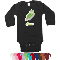Popsicles and Polka Dots Bodysuit - Black (Personalized)