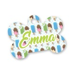 Popsicles and Polka Dots Bone Shaped Dog Tag (Personalized)