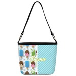 Popsicles and Polka Dots Bucket Bag w/ Genuine Leather Trim (Personalized)