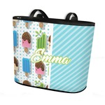 Popsicles and Polka Dots Bucket Tote w/ Genuine Leather Trim (Personalized)