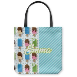 Popsicles and Polka Dots Canvas Tote Bag (Personalized)
