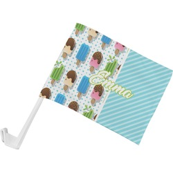 Popsicles and Polka Dots Car Flag (Personalized)
