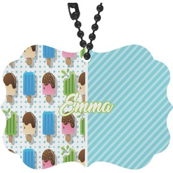 Popsicles and Polka Dots Rear View Mirror Decor (Personalized)