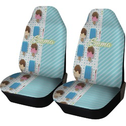 Popsicles and Polka Dots Car Seat Covers (Set of Two) (Personalized)