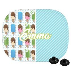 Popsicles and Polka Dots Car Side Window Sun Shade (Personalized)