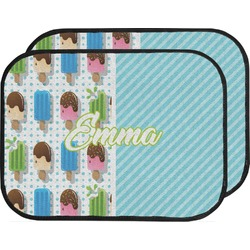 Popsicles and Polka Dots Car Floor Mats (Back Seat) (Personalized)