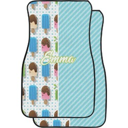 Popsicles and Polka Dots Car Floor Mats (Front Seat) (Personalized)