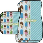 Popsicles and Polka Dots Car Floor Mats (Personalized)