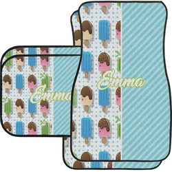 Popsicles and Polka Dots Car Floor Mats Set - 2 Front & 2 Back (Personalized)