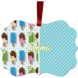 Popsicles and Polka Dots Ornament (Personalized)