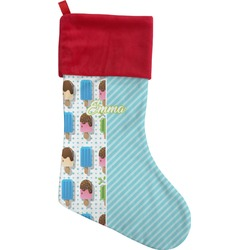 Popsicles and Polka Dots Christmas Stocking (Personalized)