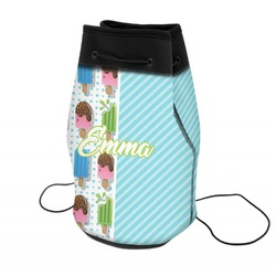 Popsicles and Polka Dots Neoprene Drawstring Backpack (Personalized)