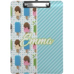 Popsicles and Polka Dots Clipboard (Personalized)