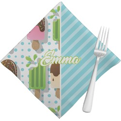 Popsicles and Polka Dots Napkins (Set of 4) (Personalized)