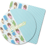 Popsicles and Polka Dots Rubber Backed Coaster (Personalized)