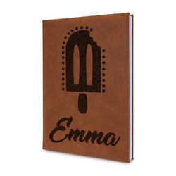 Popsicles and Polka Dots Leatherette Journal (Personalized)
