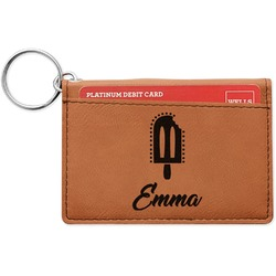 Popsicles and Polka Dots Leatherette Keychain ID Holder (Personalized)