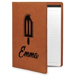 Popsicles and Polka Dots Leatherette Portfolio with Notepad (Personalized)
