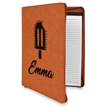 Popsicles and Polka Dots Leatherette Zipper Portfolio with Notepad (Personalized)