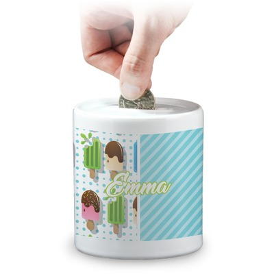 Popsicles and Polka Dots Coin Bank (Personalized)