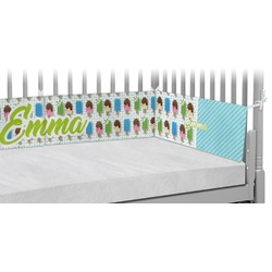 Popsicles and Polka Dots Crib Bumper Pads (Personalized)