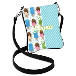 Popsicles and Polka Dots Cross Body Bag - 2 Sizes (Personalized)