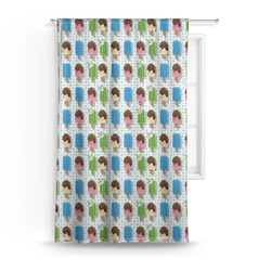 Popsicles and Polka Dots Curtain (Personalized)