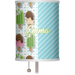 "Popsicles and Polka Dots 7"" Drum Lamp Shade (Personalized)"