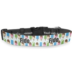 """Popsicles and Polka Dots Deluxe Dog Collar - Toy (6"""" to 8.5"""") (Personalized)"""