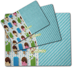 Popsicles and Polka Dots Dog Food Mat w/ Name or Text