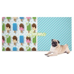 Popsicles and Polka Dots Dog Towel (Personalized)