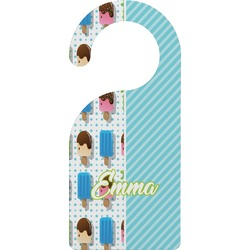 Popsicles and Polka Dots Door Hanger (Personalized)