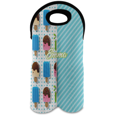 Popsicles and Polka Dots Wine Tote Bag (2 Bottles) (Personalized)