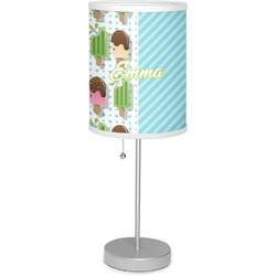 "Popsicles and Polka Dots 7"" Drum Lamp with Shade (Personalized)"