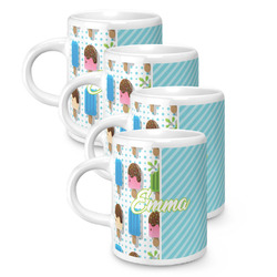 Popsicles and Polka Dots Espresso Mugs - Set of 4 (Personalized)