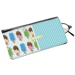 Popsicles and Polka Dots Genuine Leather Eyeglass Case (Personalized)