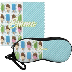 Popsicles and Polka Dots Eyeglass Case & Cloth (Personalized)