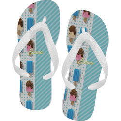 Popsicles and Polka Dots Flip Flops (Personalized)