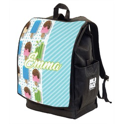 Popsicles and Polka Dots Backpack w/ Front Flap  (Personalized)