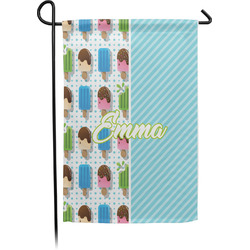 Popsicles and Polka Dots Garden Flag - Single or Double Sided (Personalized)
