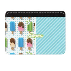 Popsicles and Polka Dots Genuine Leather Front Pocket Wallet (Personalized)