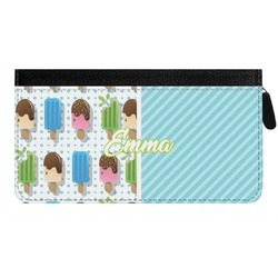 Popsicles and Polka Dots Genuine Leather Ladies Zippered Wallet (Personalized)