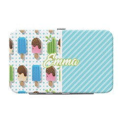 Popsicles and Polka Dots Genuine Leather Small Framed Wallet (Personalized)