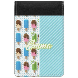 Popsicles and Polka Dots Genuine Leather Small Memo Pad (Personalized)