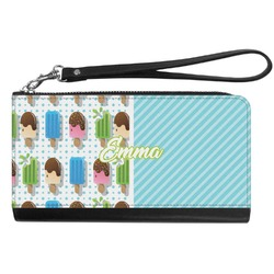 Popsicles and Polka Dots Genuine Leather Smartphone Wrist Wallet (Personalized)