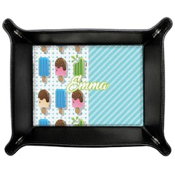 Popsicles and Polka Dots Genuine Leather Valet Tray (Personalized)