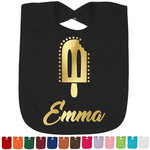 Popsicles and Polka Dots Foil Baby Bibs (Select Foil Color) (Personalized)