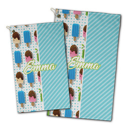 Popsicles and Polka Dots Golf Towel - Full Print w/ Name or Text