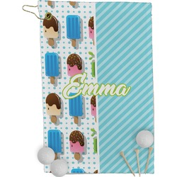 Popsicles and Polka Dots Golf Towel - Full Print (Personalized)